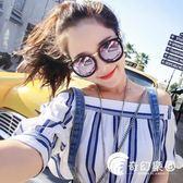 墨鏡女圓臉潮韓國個性明星同款偏光粉色可配近視有帶度數太陽眼鏡-奇幻樂園