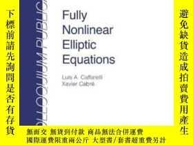 二手書博民逛書店Fully罕見Nonlinear Elliptic Equations-完全非線性橢圓方程Y436638 Lu