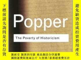 二手書博民逛書店The罕見Poverty of Historicism Karl Popper 英文原版 勞特裏奇經典系列:歷史相