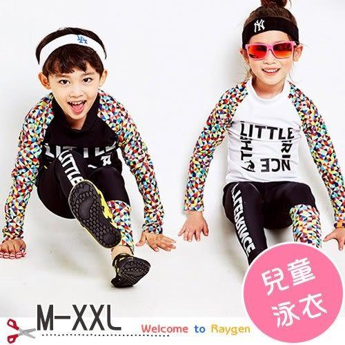 韓版圖形 兒童泳衣 男女童 防曬 兩件式潛水服 M-XXL