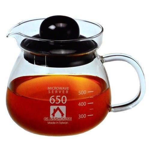 GLASSHOUSE 耐熱玻璃壺(B650) 650ml 隨機