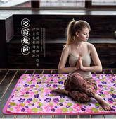 印花瑜珈毯鋪墊加寬愈加墊巾防滑瑜伽鋪巾加厚瑜伽毯吸汗毛巾WY