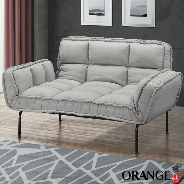 【采桔家居】斐濟 現代風棉麻布機能沙發/沙發床(展開式機能設計)