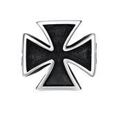 鈦鋼戒指 十字架-經典簡約百搭時尚生日聖誕節禮物男飾品73le137[時尚巴黎]