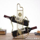 創意紅酒架擺件紅酒杯架酒瓶架現代簡約葡萄酒架子客廳展示架酒架 莫妮卡小屋