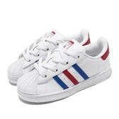 adidas 休閒鞋 Superstar EL I 白 藍 紅 童鞋 小童鞋 運動鞋 【ACS】 FV3691