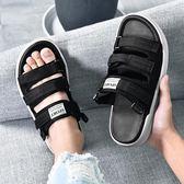 涼鞋男夏季拖鞋兩用沙灘鞋男士越南涼拖韓版潮情侶一字拖時尚外穿 『快速出貨』
