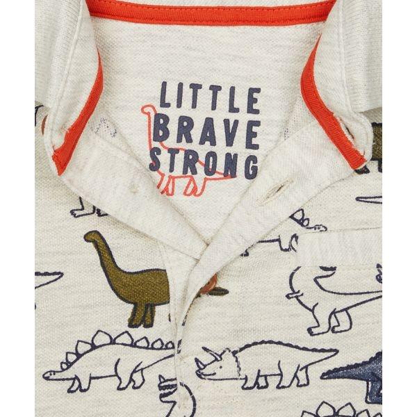 mothercare 白色恐龍短袖POLO衫-部落風系列(M0TB643)12個月~6歲