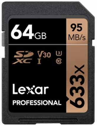 【 64G】Lexar 雷克沙 Professional 633X U3 V30 SDXC UHS-I 64Gb 記憶卡 95MB/s
