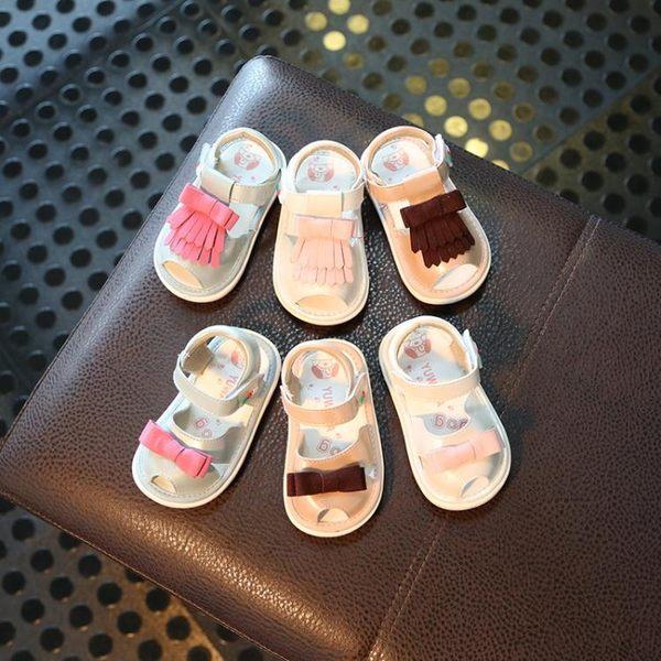 正韓涼鞋夏軟底學步鞋防滑寶寶鞋男女叫叫嬰兒學步鞋 全館限時八八折
