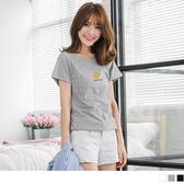 OrangeBear《AA9718》高含棉香蕉水果印花圖案短袖上衣--適 XL~5L