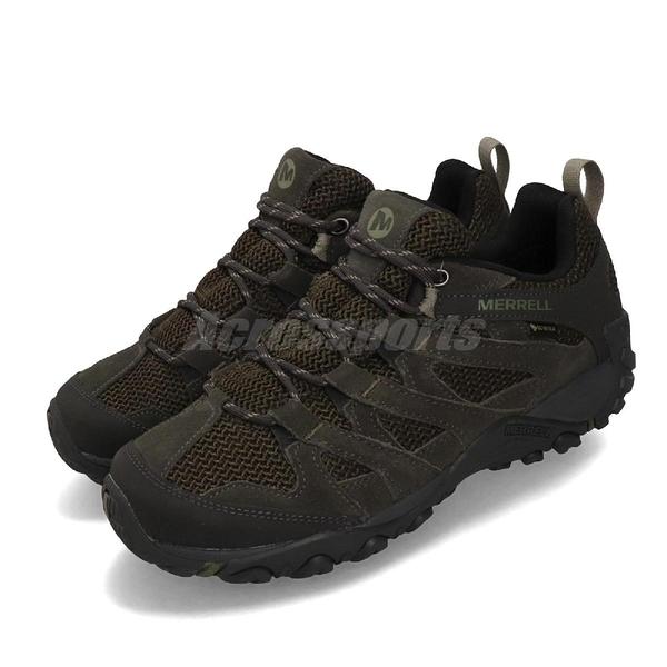 Merrell 戶外鞋 Alverstone GTX 綠 深綠 男鞋 運動鞋 Gore-Tex 防水 【ACS】 ML36739
