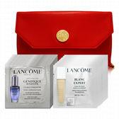 LANCOME蘭蔻 超進化肌因活性安瓶1mlx12+亮采粉底液1mlx12(贈化妝包)