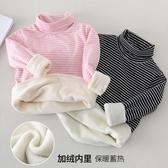 兒童加絨打底衫 新款秋冬裝保暖女童 加厚男童裝 高領純棉上衣