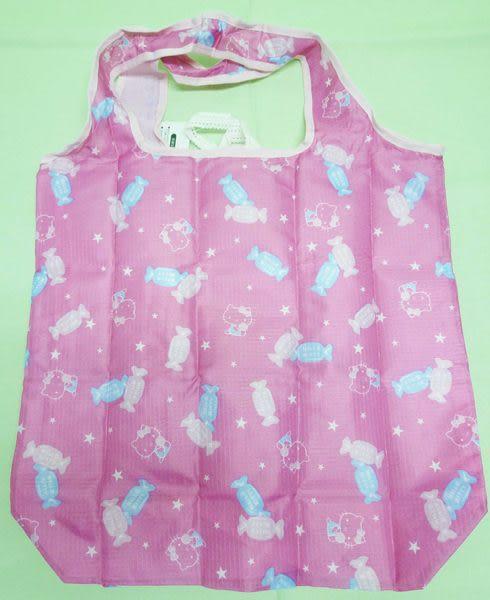 【震撼精品百貨】Hello Kitty 凱蒂貓~環保購物手提袋『桃紅底白點糖果』