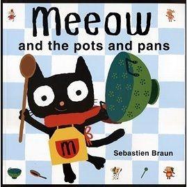 【麥克書店】 MEEOW AND POTS AND PANS /平裝繪本