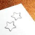 耳環 星星 造型線狀 純銀耳環-64DE...