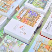 手帳本創意可愛彩頁插畫本子學生女生小清新套裝禮盒裝
