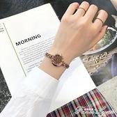 女士手錶小巧精致 簡約氣質ins風鐵錬金屬錶帶復古文藝百搭小錶盤 范思蓮恩