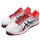 【六折特賣】Asics 排羽球鞋 Gel-Task 紅 白 男鞋 基本款 亞瑟士 運動鞋【PUMP306】 B704Y0123