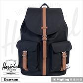 Herschel 後背包 黑色 雙口袋13吋筆電後背包 Dawson-001 MyBag得意時袋