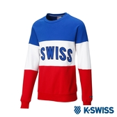 K-SWISS Round Sweat Shirts圓領長袖上衣-男-藍