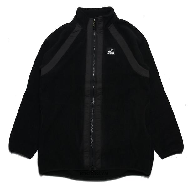 NEW BALANCE 外套 版型偏大 黑 羔羊毛 長版 保暖 休閒 (布魯克林) WJ13505BK