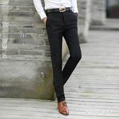 男士休閒褲春季黑色長褲子韓版薄款青年直筒西裝褲修身正裝西褲 QQ20016『MG大尺碼』