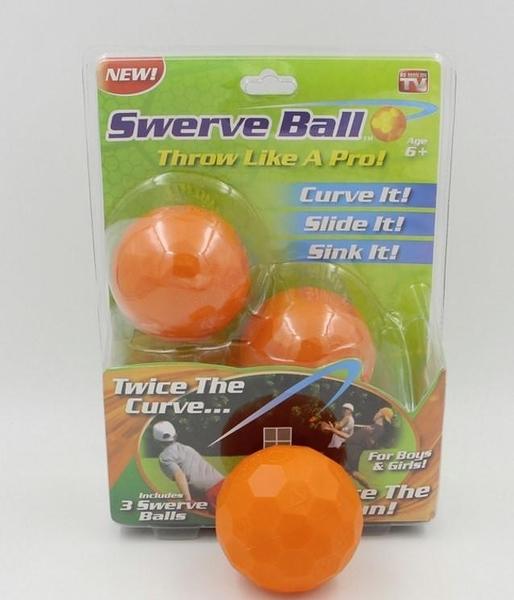Swerve Ball 超強神奇魔幻球(3入組) 漂浮球 轉彎球 棒球 塑膠球 爆裂球 輕鬆投出變化球