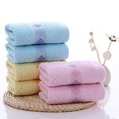 5條裝 純棉毛巾家用柔軟成人洗臉男女全棉面巾【雲木雜貨】
