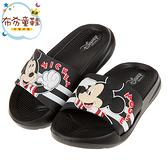 《布布童鞋》Disney米老鼠米奇黑色兒童輕量拖鞋(15~20公分) [ D9X006D ]