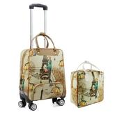 拉桿包 拉桿包女大容量旅行包軟包可折疊拉桿箱萬向輪行李包手提包 - 歐美韓熱銷