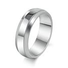 316L醫療鋼 弧形亮面戒指-銀 防抗過...