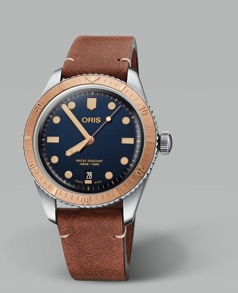 ORIS DIVERS SIXTY-FIVE青銅復刻潛水錶(0173377074355-0752045)藍面/40mm