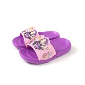 偶像學園 拖鞋 防水 紫/粉紅 中童 童鞋 ID0720 no784