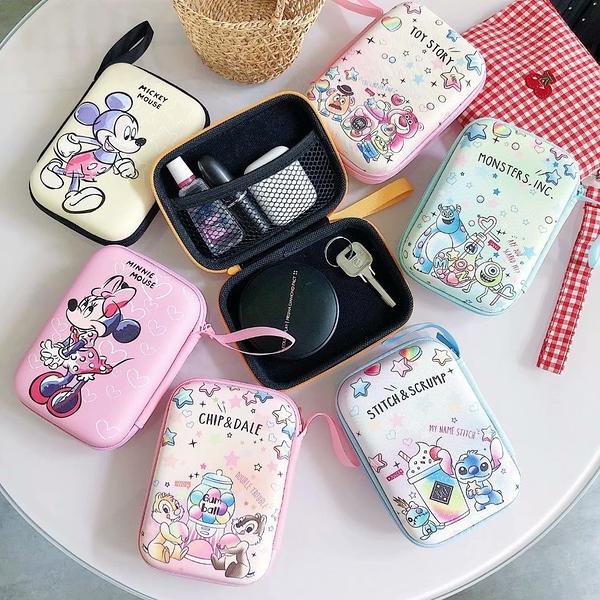 【SZ15】日韓卡通卡通米奇米妮史迪奇長方形收納包 零錢包 硬幣包 鑰匙耳機包 長方形收納盒