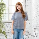 【UFUFU GIRL】錯綜條紋獨具特色,純棉布x寬版剪裁舒適好著!