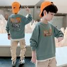 男童T恤男童長袖T恤連帽T恤兒童中大童裝上衣男孩打底衫潮款