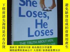 二手書博民逛書店Weight罕見Watchers:She loses ,He L