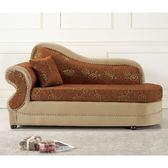 【森可家居】古典玫瑰布沙發貴妃椅 8SB162-3 (左向、右向) 中法式宮廷風