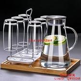 冷水壺玻璃家用果汁壺大容量耐熱防爆耐高溫涼水杯茶【時尚好家風】