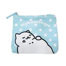水藍色款【日本進口正版】貓咪收集 零錢包 面紙包 收納包 卡片包 Neko atsume - 427846