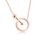 【5折超值價】時尚精美精緻幾何圓圈造型女款鈦鋼項鍊