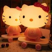 Kitty貓臥室床頭檯燈 滑板凱蒂貓臥室床頭小夜燈《小師妹》dj74