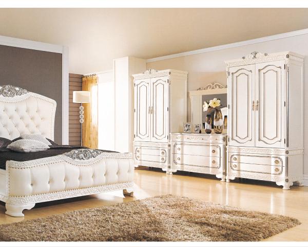 化妝台【YUDA】仙雅娜 4尺法式象牙白銀邊斗櫃鏡檯   化妝台/鏡檯/妝檯 (不含椅) J8F 006-3