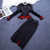 OL套裝(裙裝)毛呢料-時尚氣質修身顯瘦女兩件式套裝72j23【巴黎精品】