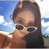 現貨-韓國ulzzang原宿復古墨鏡新品個性明星款大框白色框架眼鏡修臉女士太陽鏡復古潮人墨鏡107
