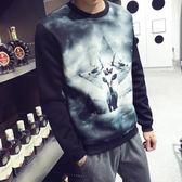飛行夾克 男士圓領套頭T恤大碼韓版外套