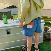 瞇瞇眼童裝兒童牛仔短褲2021夏季新款男童韓版洋氣褲子寶寶皮標褲 幸福第一站