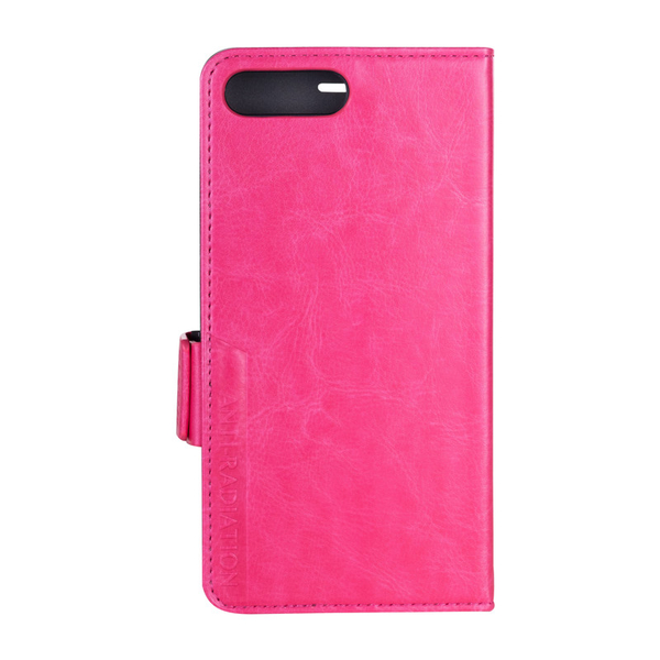 iPhone 7 Plus / 8 Plus 精緻仿真皮革手機皮套 桃紅